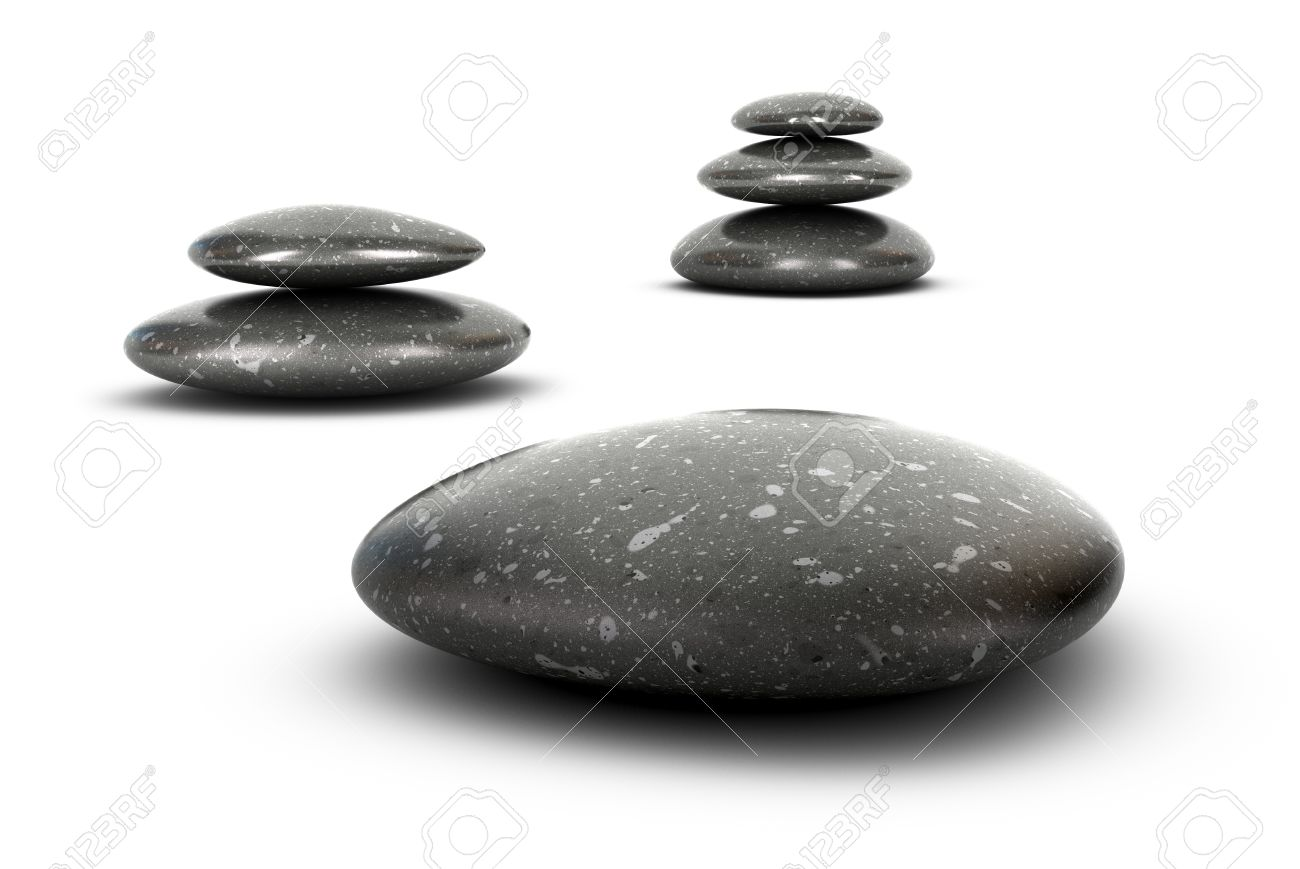 Three stones stacked over white balancing pebbles 3d render three stones stacked over white balancing pebbles 3d render symbol of growth serenity and biocorpaavc Gallery