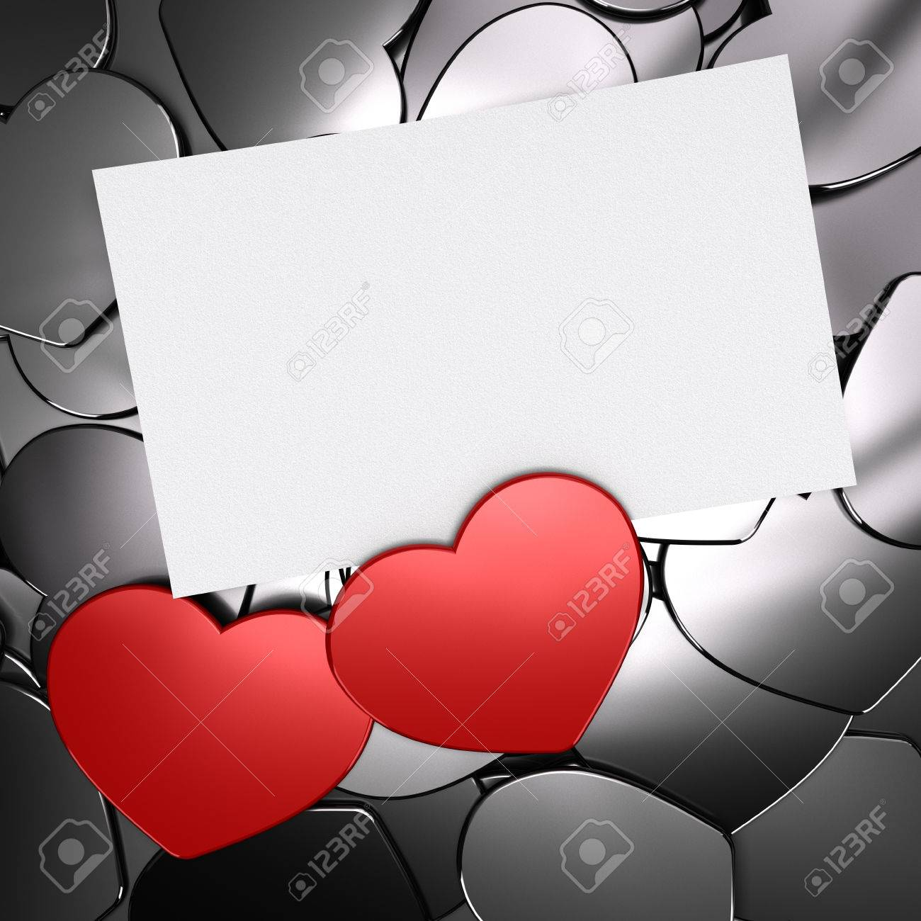 Two red heart shapes over grey ones symbol of love passion two red heart shapes over grey ones symbol of love passion card with blank biocorpaavc