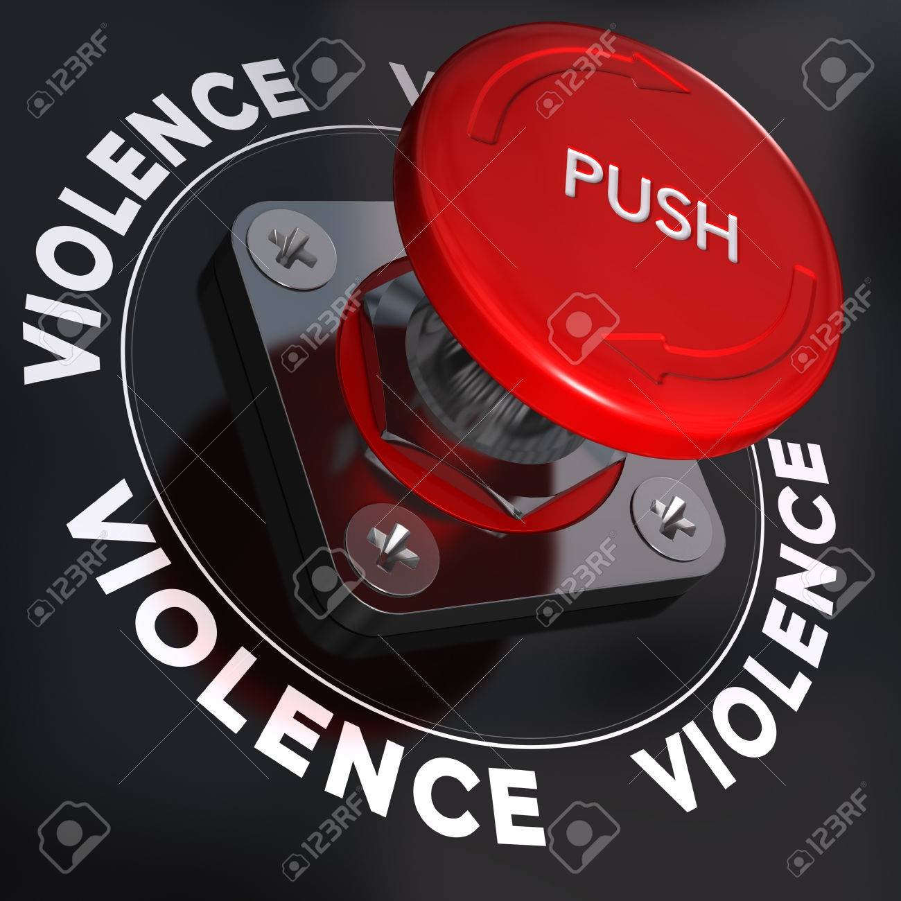 Panic button with the word violence symbol of relationship panic button with the word violence symbol of relationship conflicts stock photo 31972048 buycottarizona Choice Image