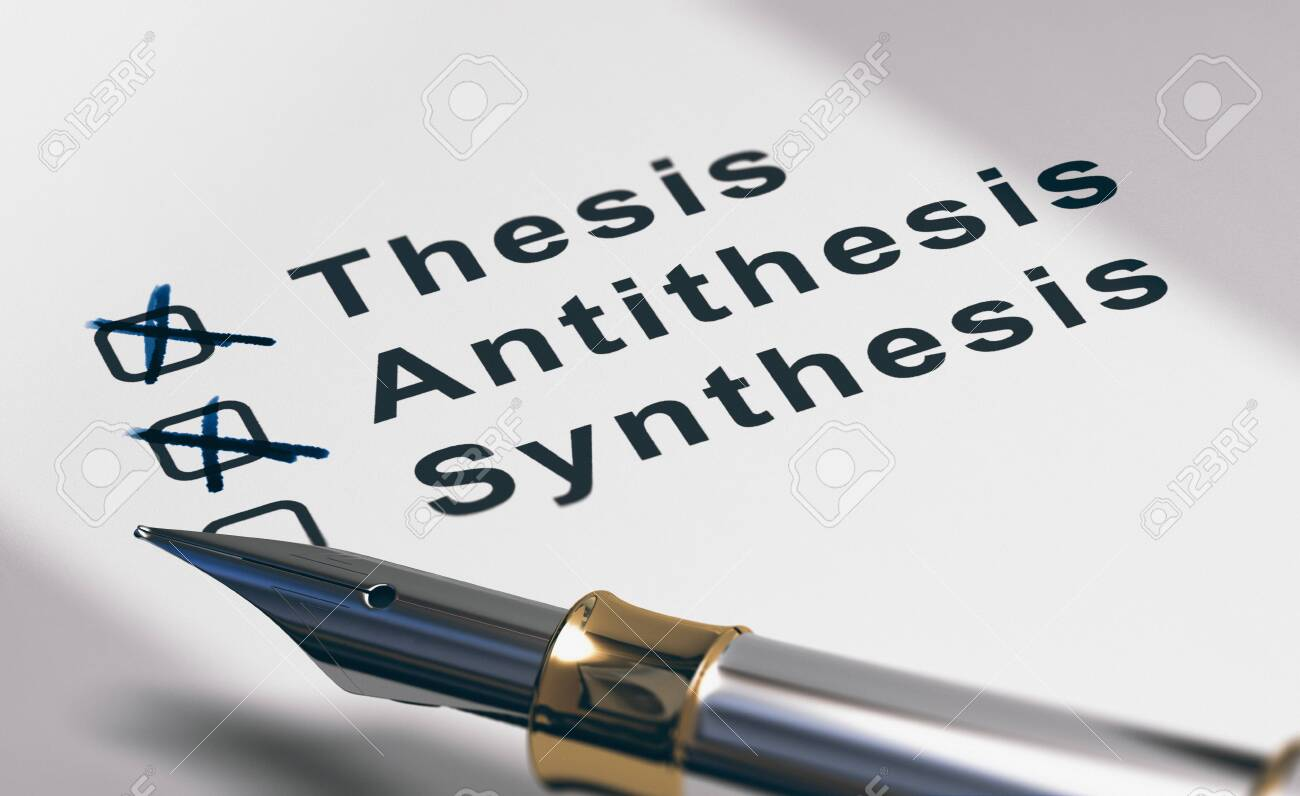 Close Up Of Dissertation Method (thesis, Antithesis And Synthesis).. Stock  Photo, Picture And Royalty Free Image. Image 131992852.