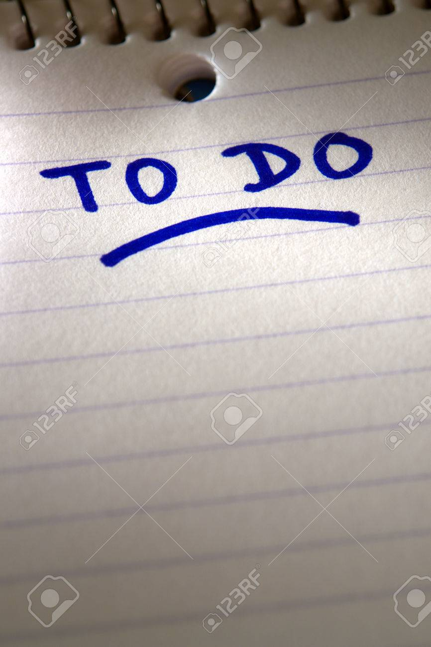 To do list title on a spiral bound paper note pad Stock Photo - 1703812