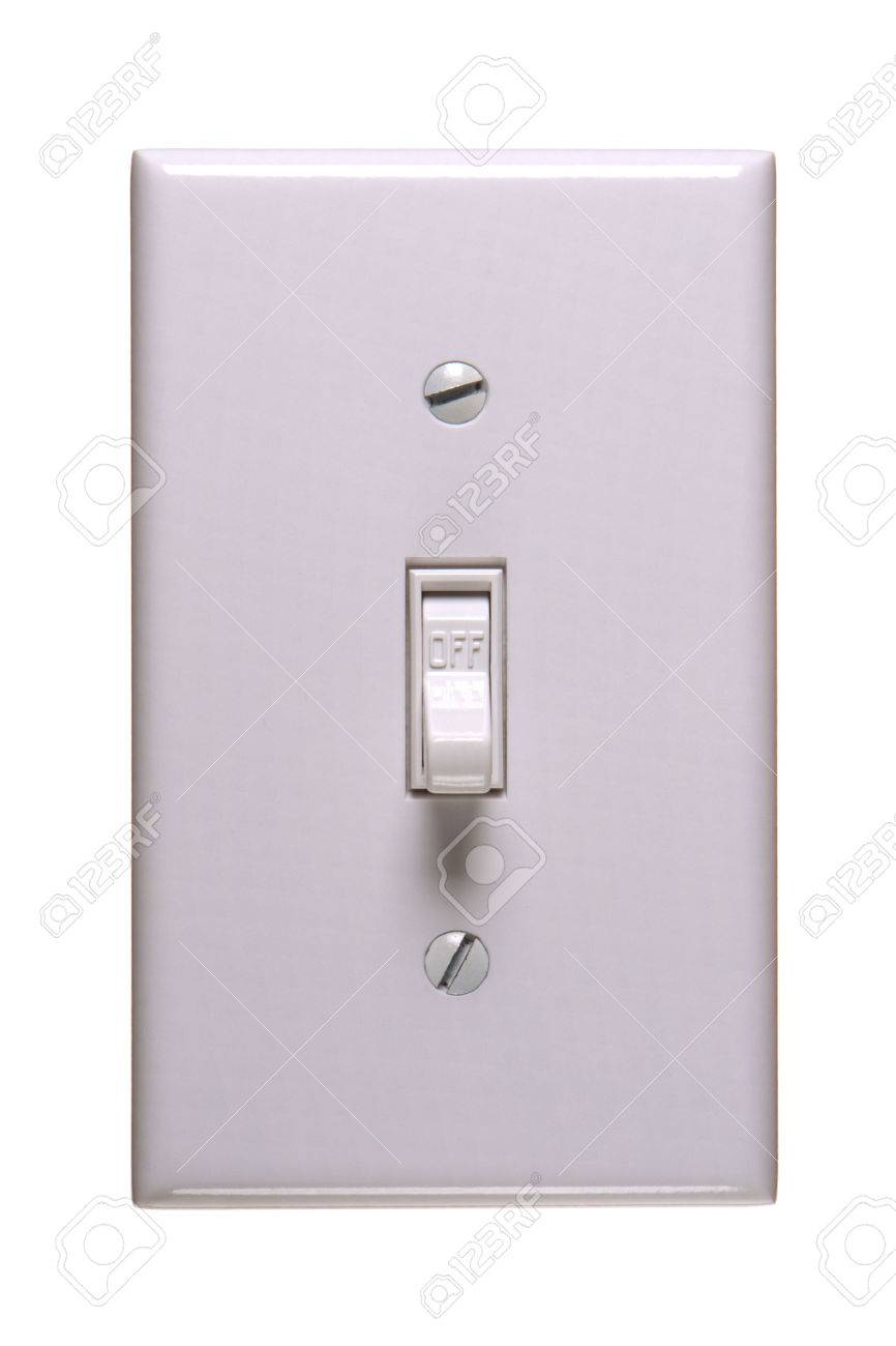 Traditional American Electric Switch In OFF Position Stock Photo ...