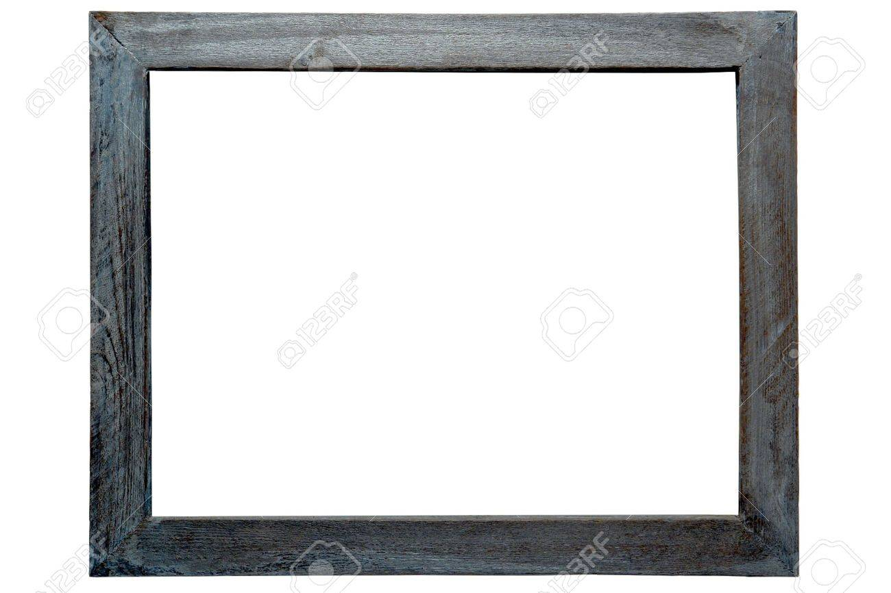 Old Distressed Antique Grunge Grey Wood Picture Frame Isolated ...