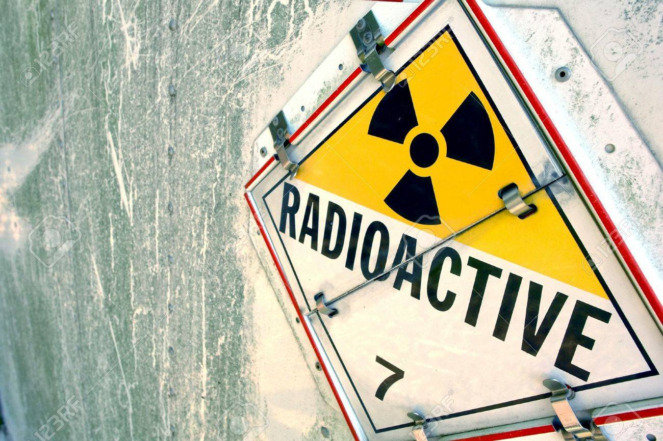 Radioactive danger warning placard sign on grunge metal surface Stock Photo - 7099478