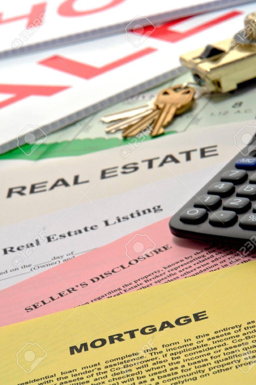 Immobilien-Angebots-und Home-Verkäufer Makler Offenlegung Von ...