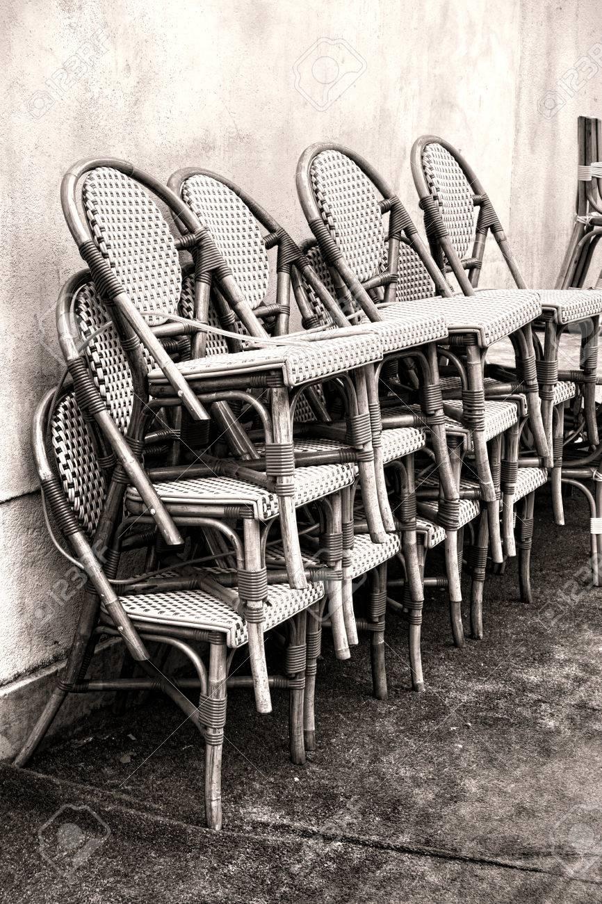 Clásicos De Bambú De Mimbre Sillas Del Café De Estar Con Armadura De ...