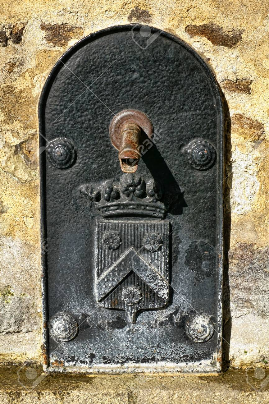 - Antique Public Water Fountain With Duckbill Spout And Cast Iron