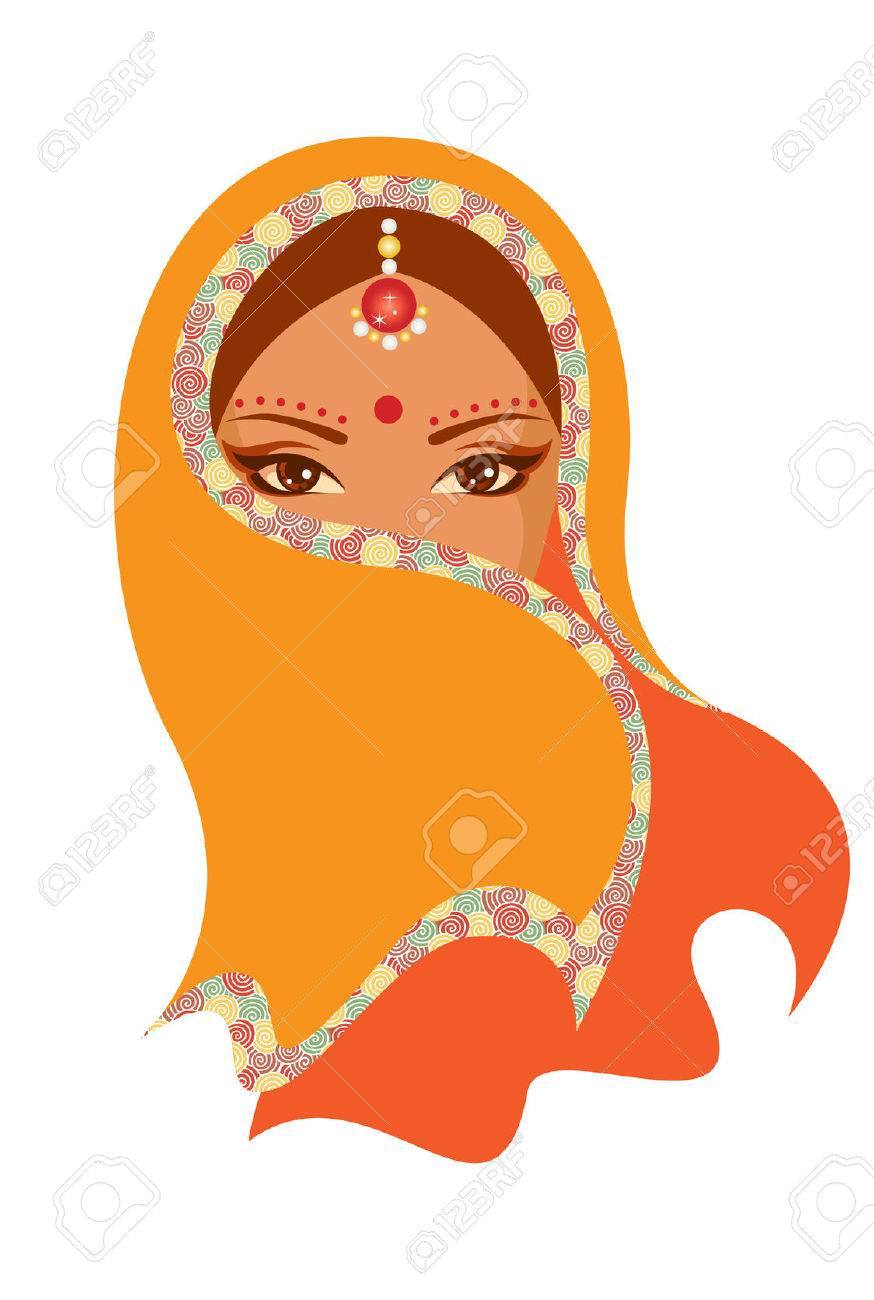 Vector  illustration of Indian woman Stock Vector - 27249848