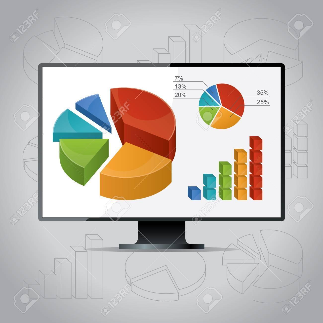 charts, diagrams and graphs. Stock Vector - 17901089