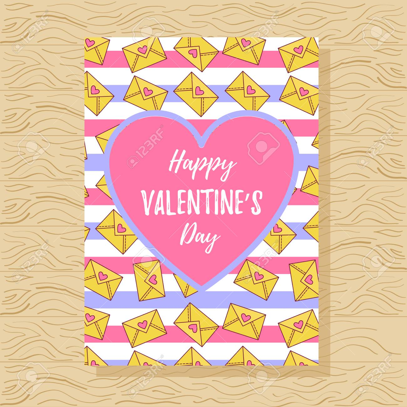 St. Valentine's day greeting card with letters and stripes.. on cute templates for papers, cute templates for calendar, bear border for letters, cute templates for signs, cute templates for events, cute labels, cute templates for lists, design for letters, brown for letters, cute templates for flyers, movie for letters, cute templates for journals, home for letters,