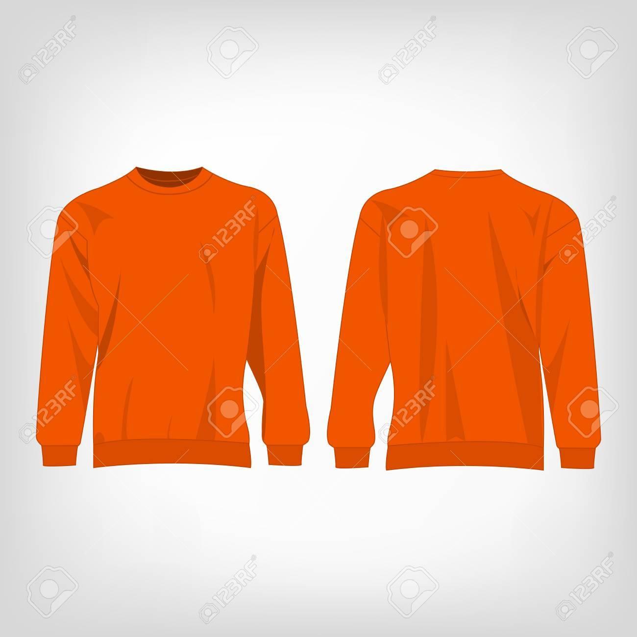 Oranje Trui.Geisoleerd Sport Oranje Trui Vector Royalty Vrije Cliparts Vectoren