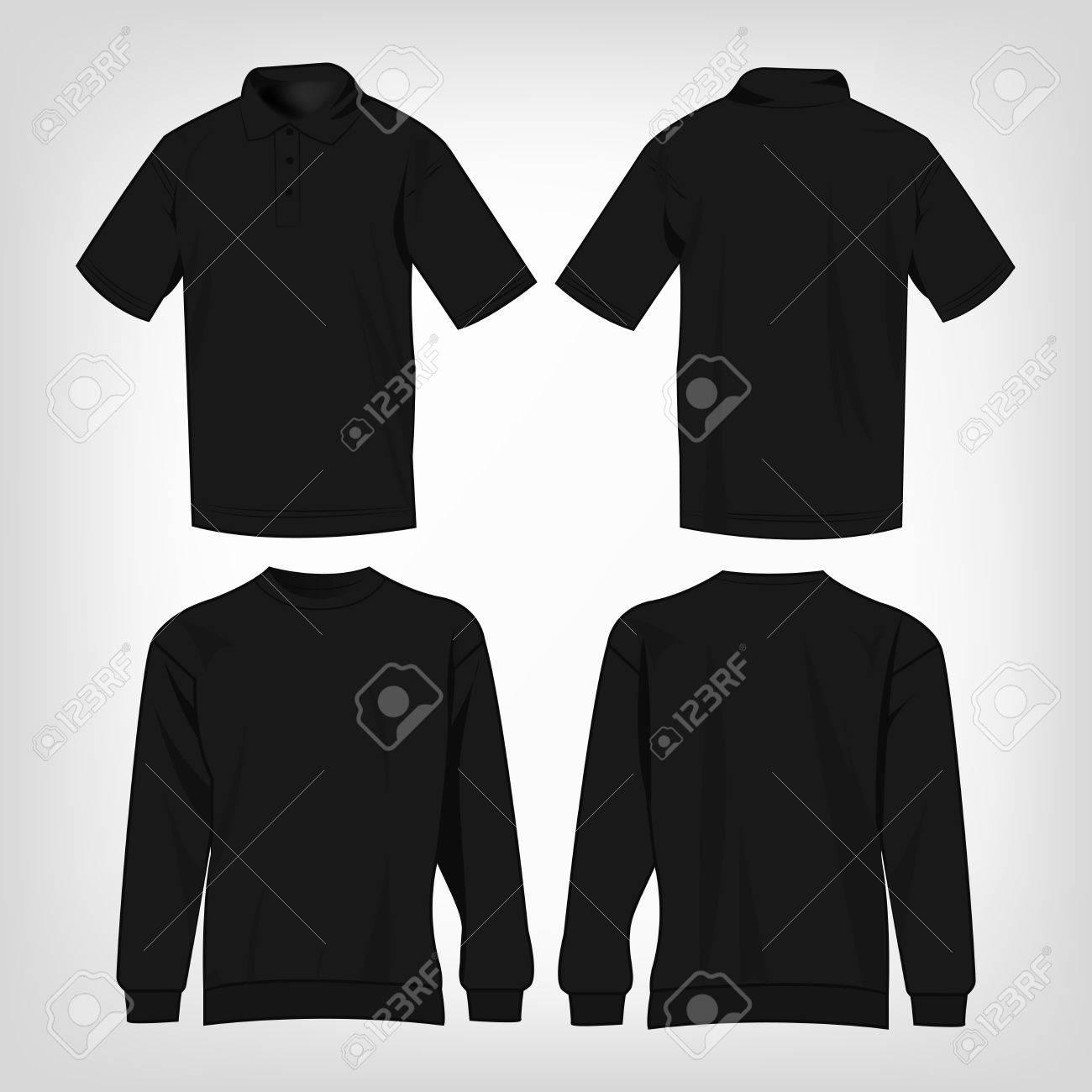 Comienzo Él Casco  Deporte Suéter Negro Y Camisa De Polo De Vectores Aislados Conjunto  Ilustraciones Vectoriales, Clip Art Vectorizado Libre De Derechos. Image  51266246.