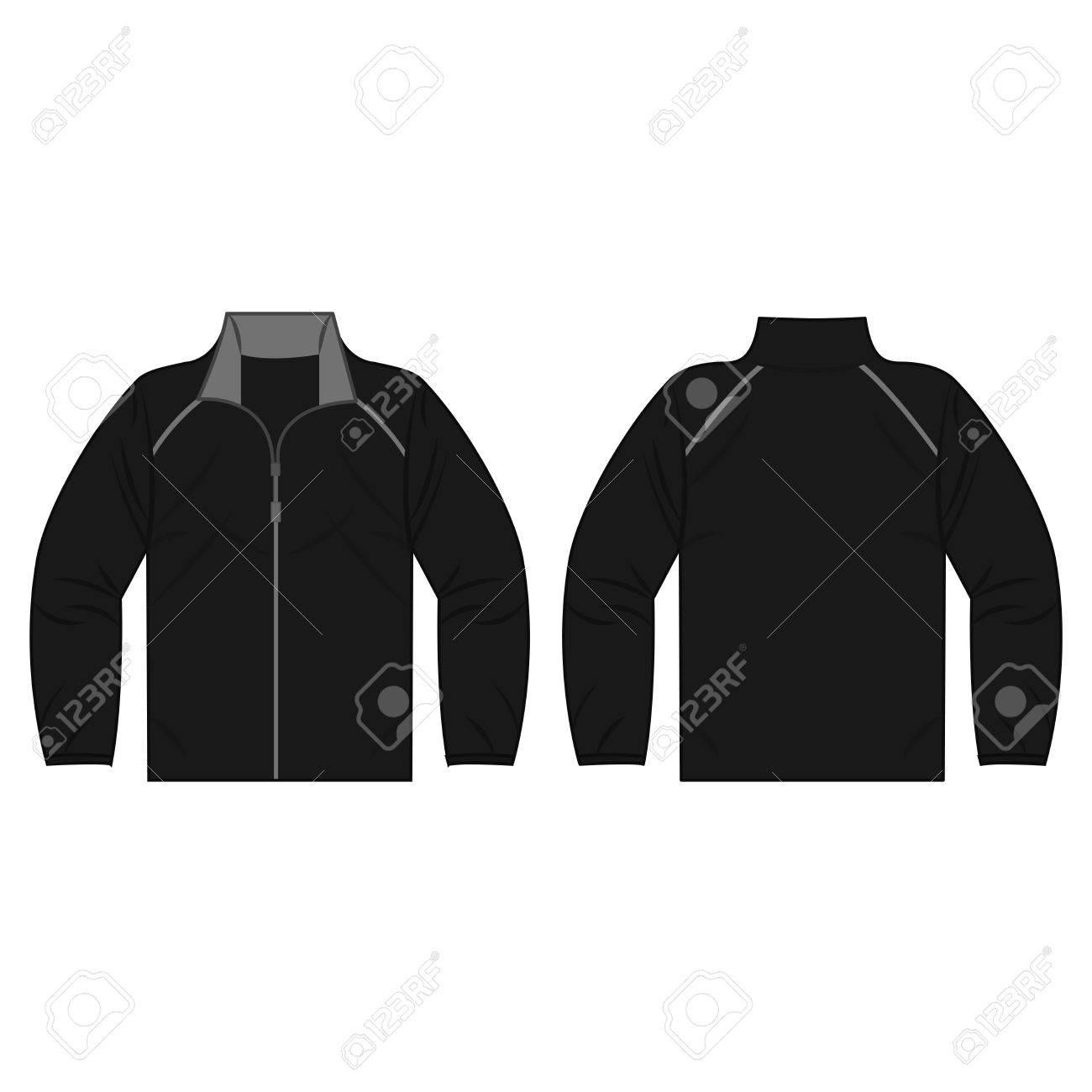 zwarte herfst jas