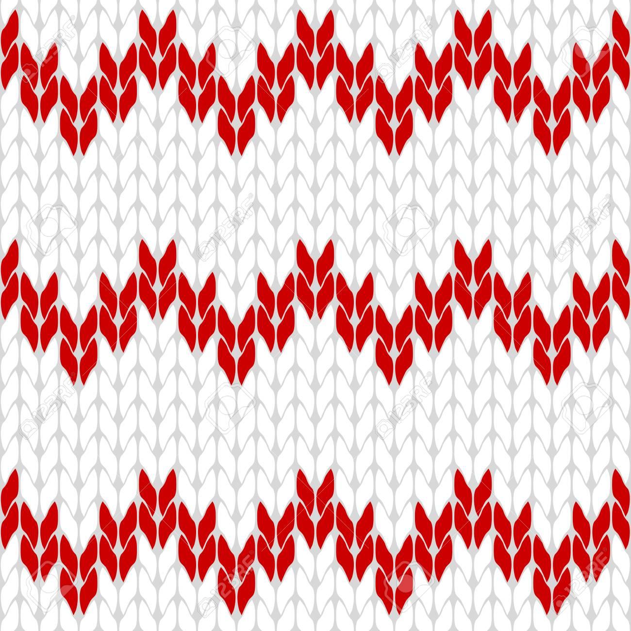 Vector Aislado Del Triángulo De Patrón De Fondo Blanco Y Rojo De ...