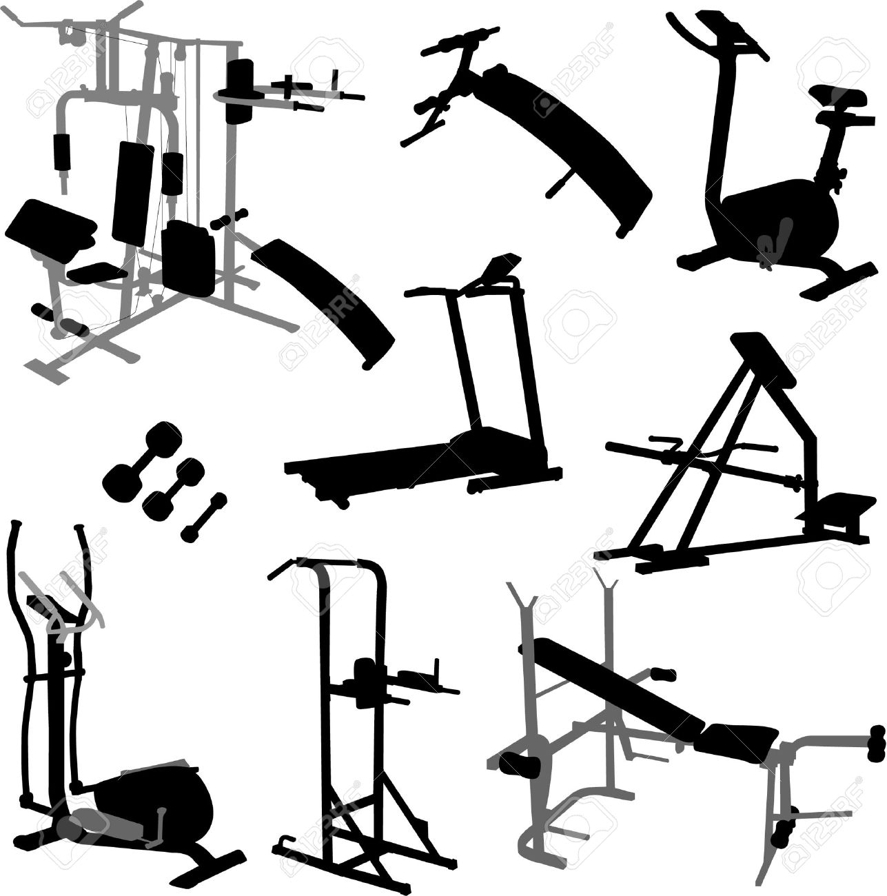 Gym Equipment Vector Royalty Free Cliparts Vectors And Stock Illustration Image 9040568