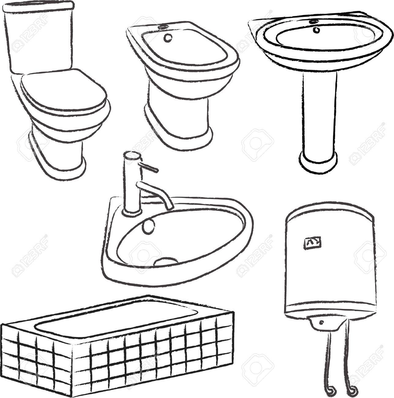 archivio fotografico oggetti della stanza da bagno