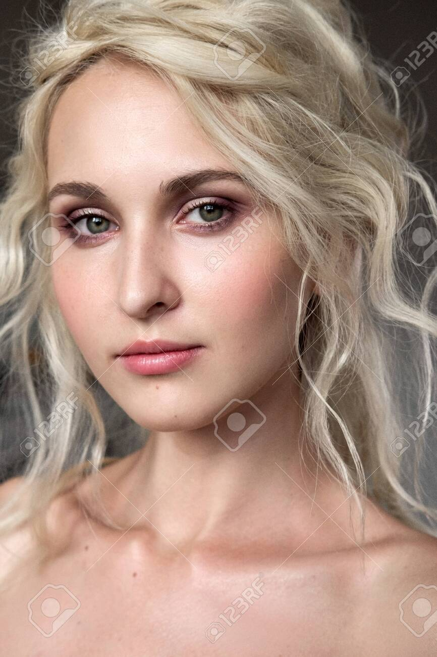 Portrait Of A Beautiful Blonde Model With Lokans With Natural Stock Photo Picture And Royalty Free Image Image 141445277