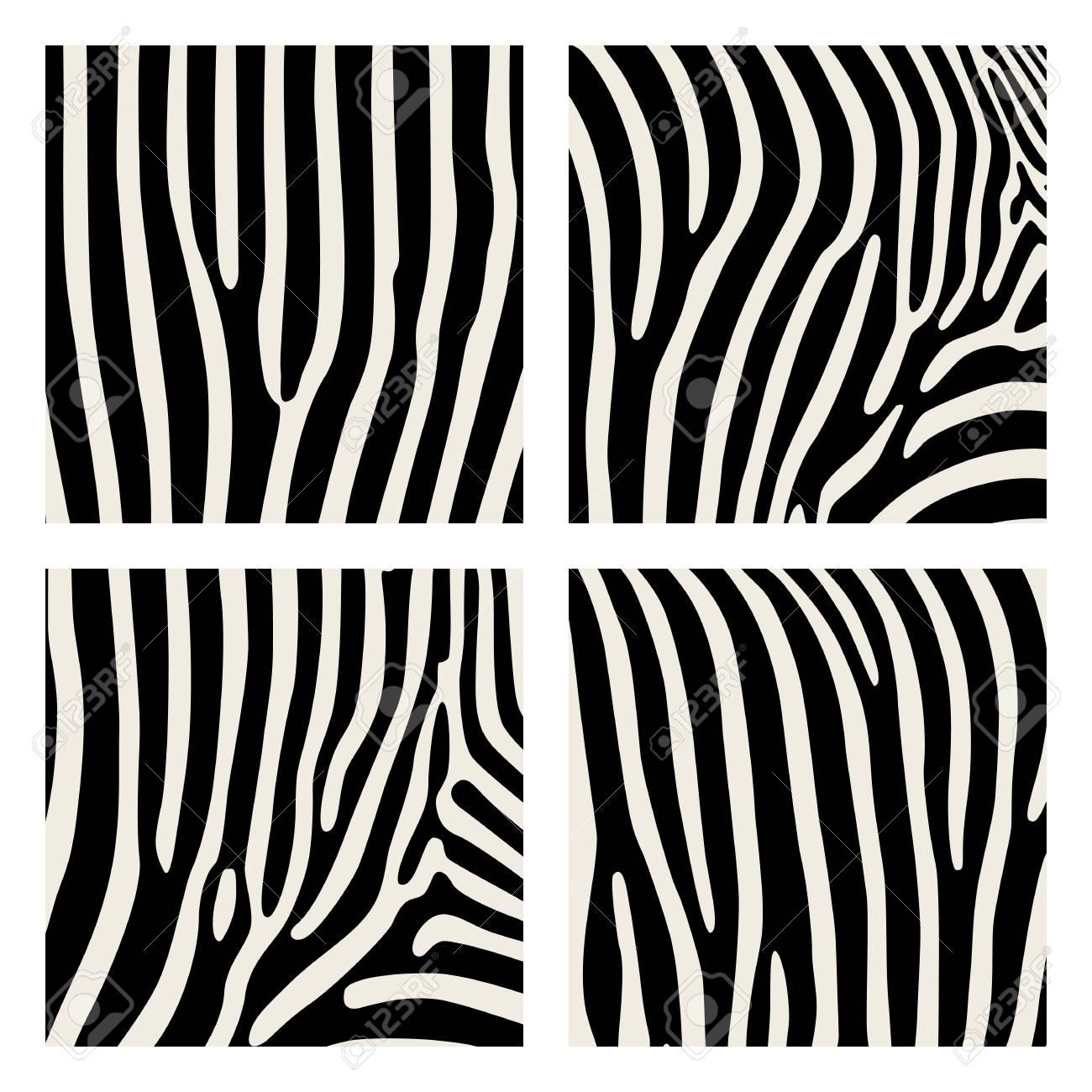 6596eb43470 Conjunto de patrón animal. Impresión de imitación de piel de cebra.