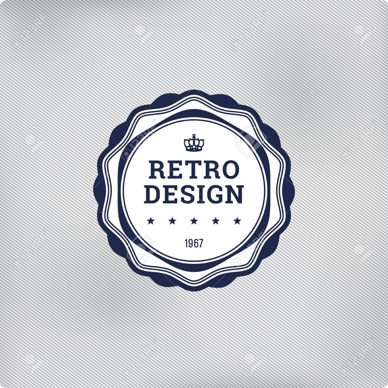 retro logo template elements vector vintage label royalty free