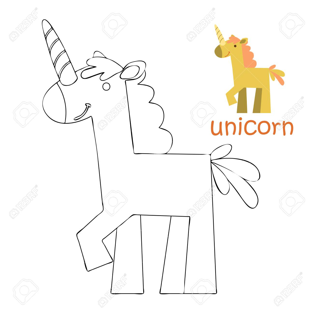 coloring book for kids coloring page unicorn royalty free cliparts