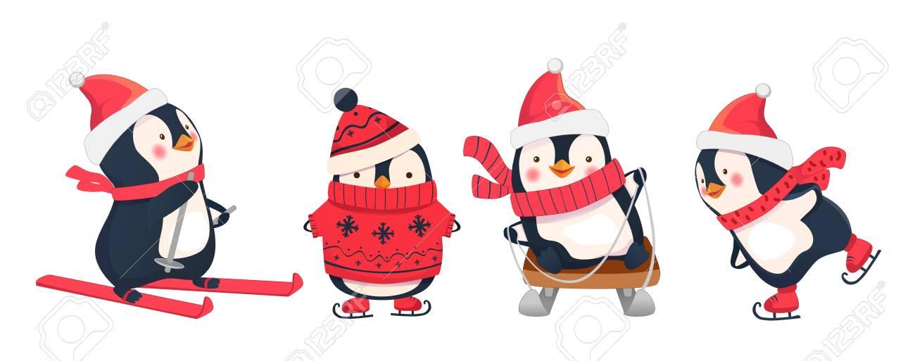 vendredi 29 janvier 92144961-activit%C3%A9s-de-loisirs-en-hiver-illustration-de-sports-d-hiver-manchot