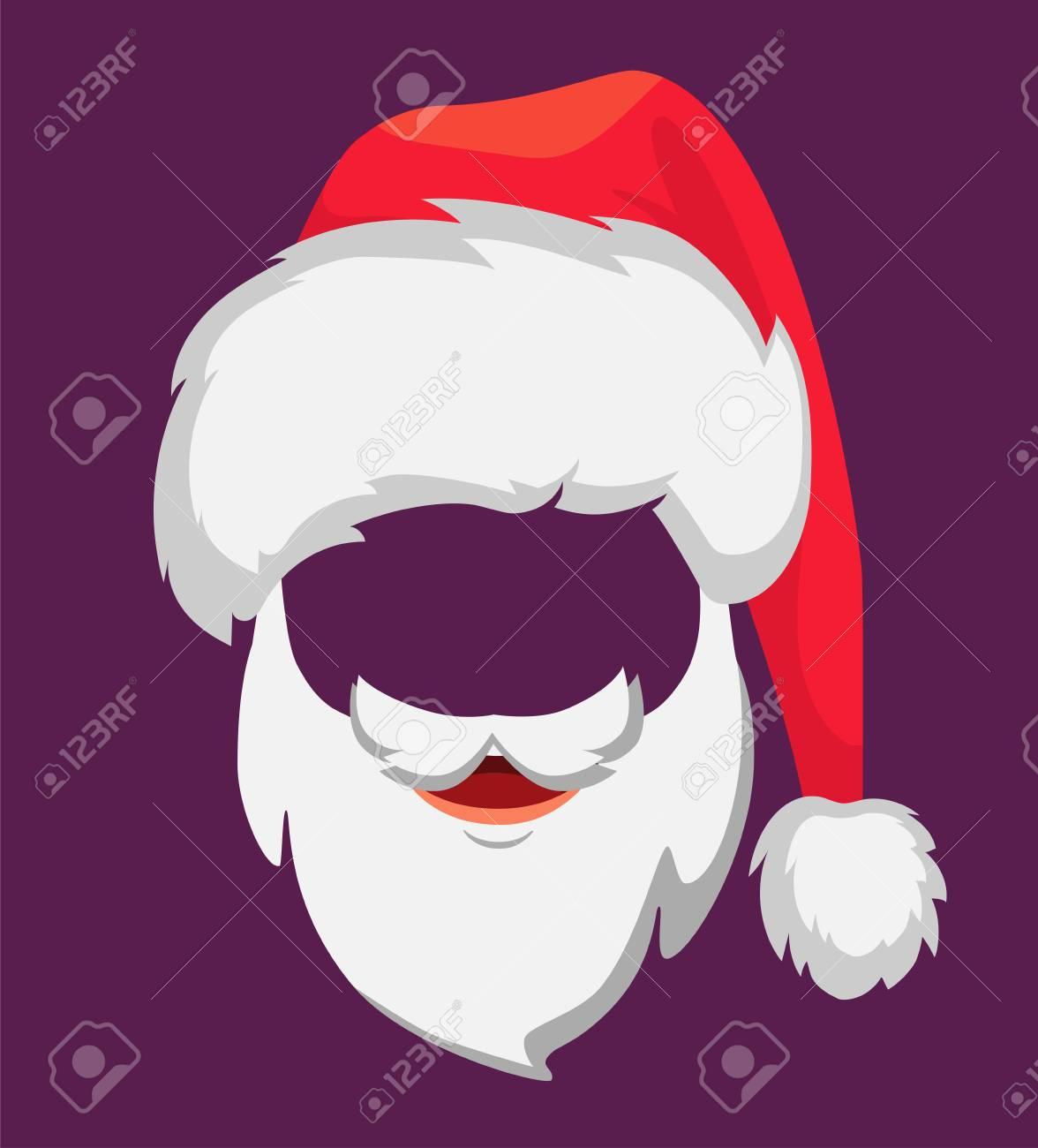 ecf3525fa021a Santa Claus hat and beard. Santa Claus vector illustration Stock Vector -  111886021