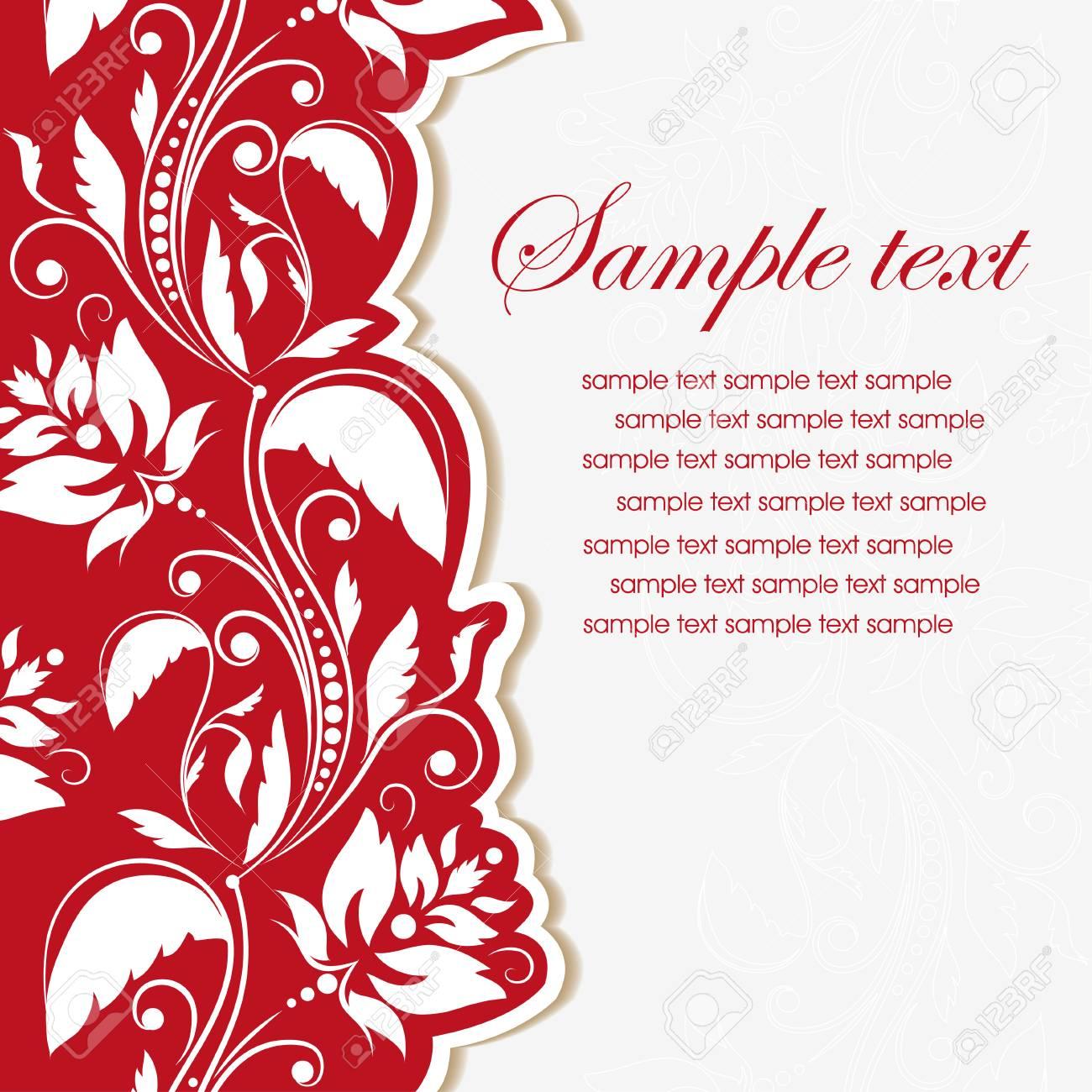 Template Frame Floral Invitation Background Vector Illustration