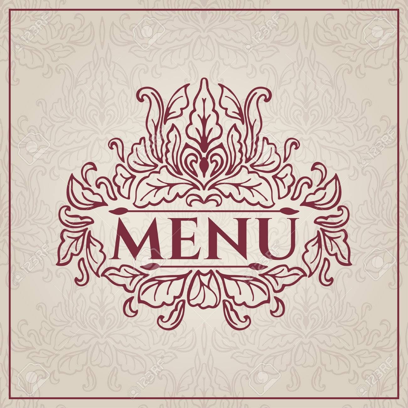 elegant vintage restaurant menu design vector illustration royalty