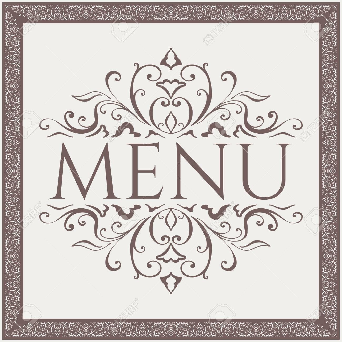 パターンの美しさとエレガントなレストラン メニュー デザイン ベクトル