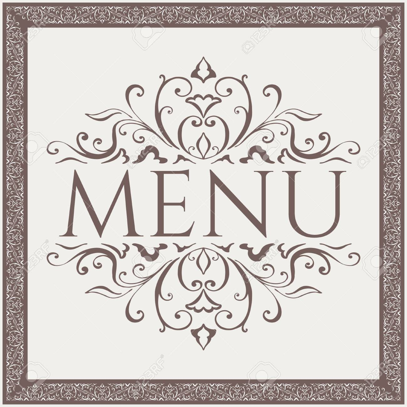 Elegant Restaurant Menu Design With Beauty Pattern Vector Illustration Royalty Free Cliparts Vectors And Stock Illustration Image 39144866