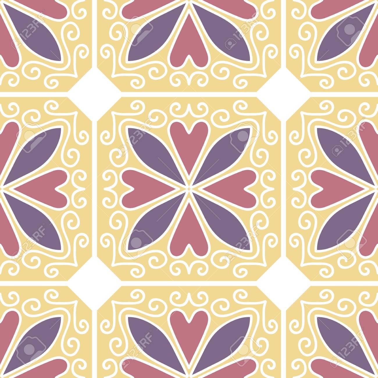 カラフルなモロッコのタイル装飾 Web ページの背景テクスチャ パターンの塗りつぶしの壁紙に使用できます ベクトル図のイラスト素材 ベクタ Image
