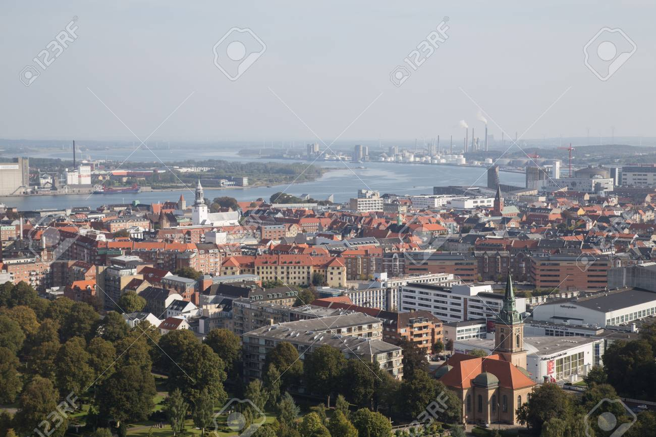 Photograph taken from the top of the Aalborg tower in Denmark. - 43862063
