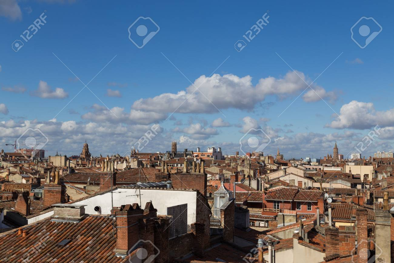 Photograph of the rooftops of the French cityToulouse. - 55465075