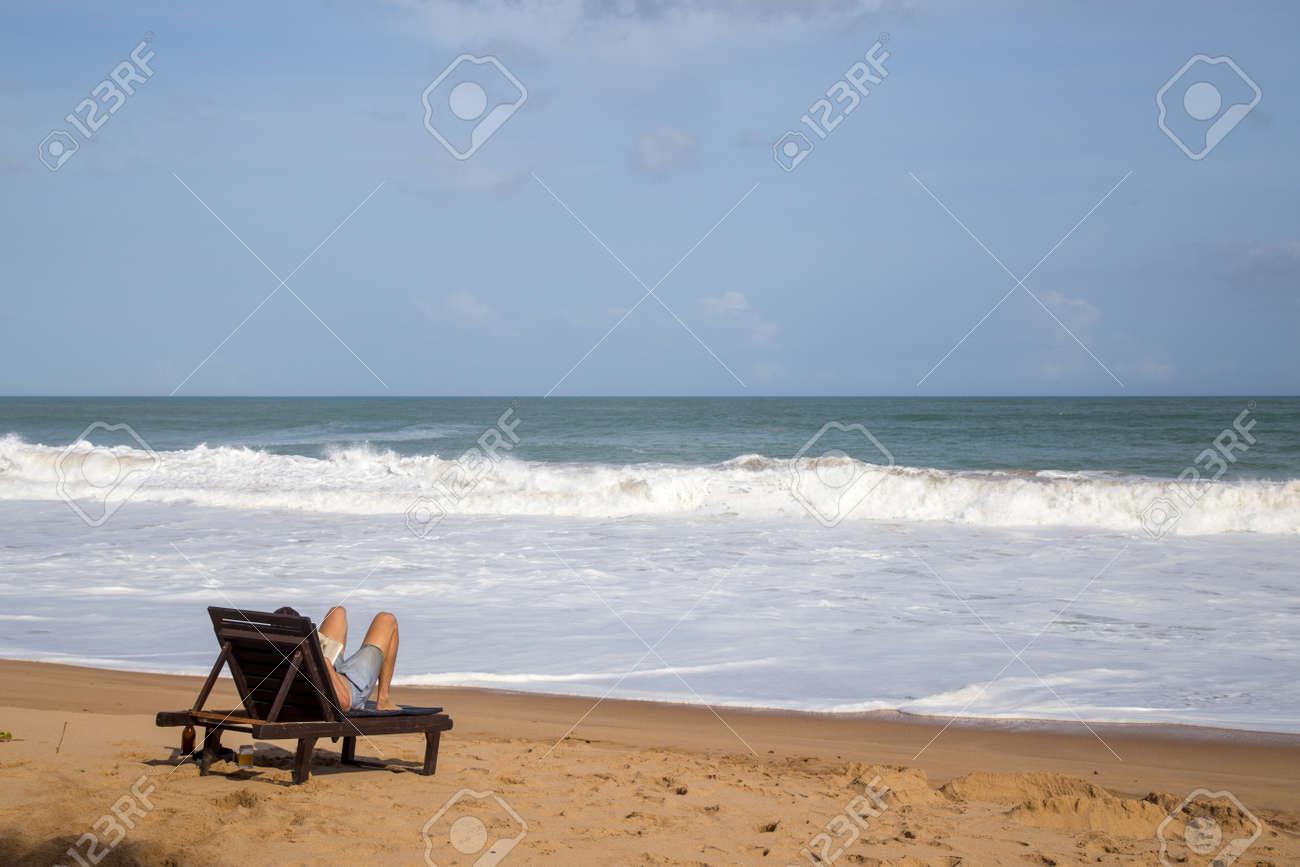 Beach Chair Relax in Sri Lanka - 172742615