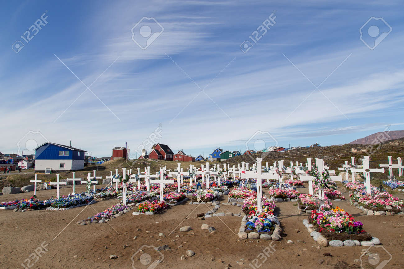 Traditional Greenlandic Cemetery - 173360616