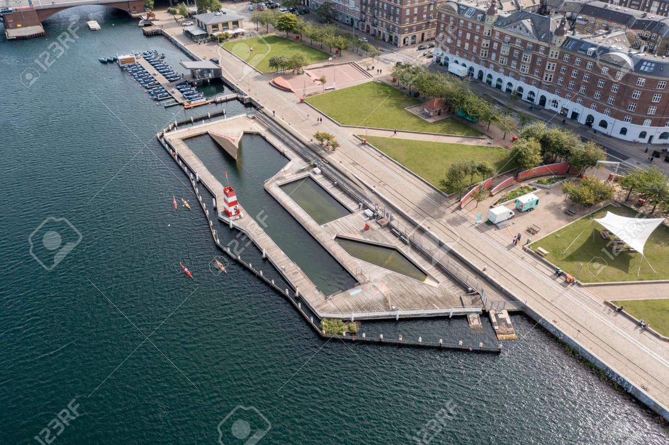 Islands Brygge Harbour Bath in Copenhagen - 173498489