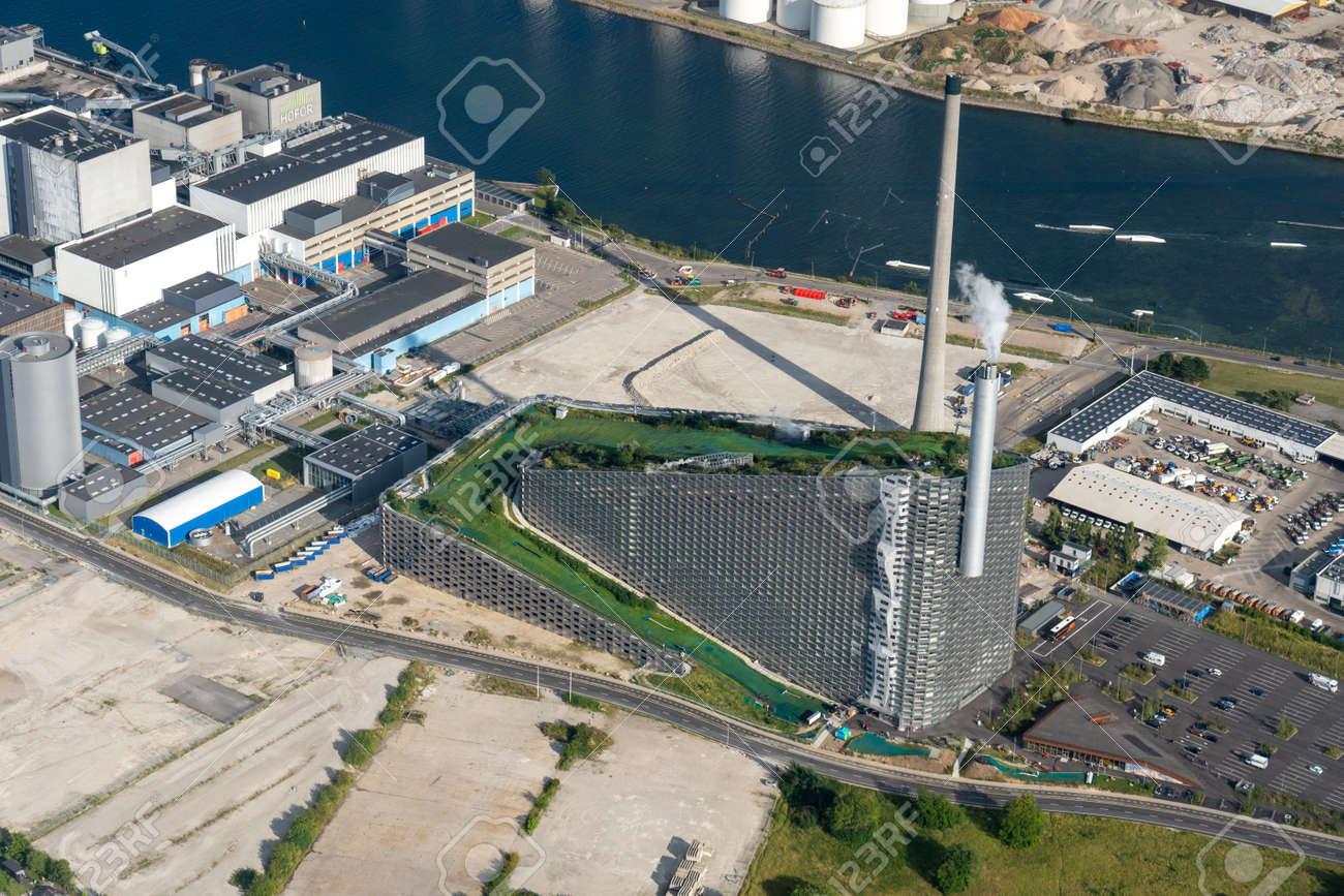 Aerial view of Amager Bakke in Copenhagen, Denmark - 173498486
