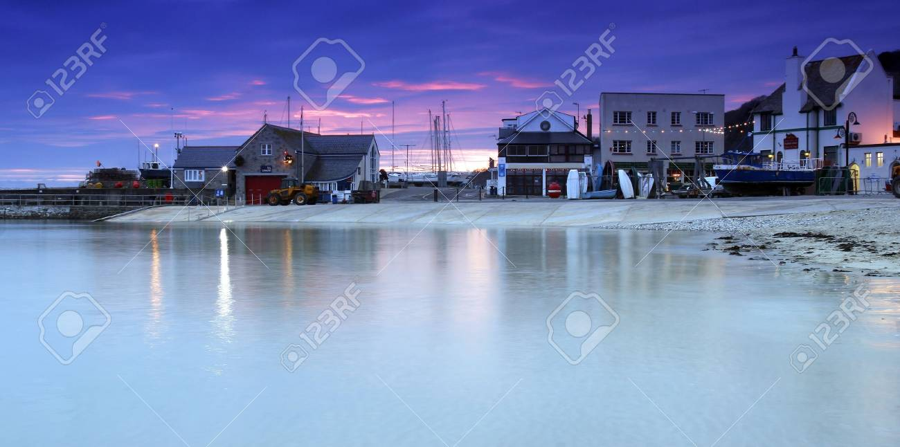 Fishing village of Lyme Regis in Dorset, South West  England Stock Photo - 16263184