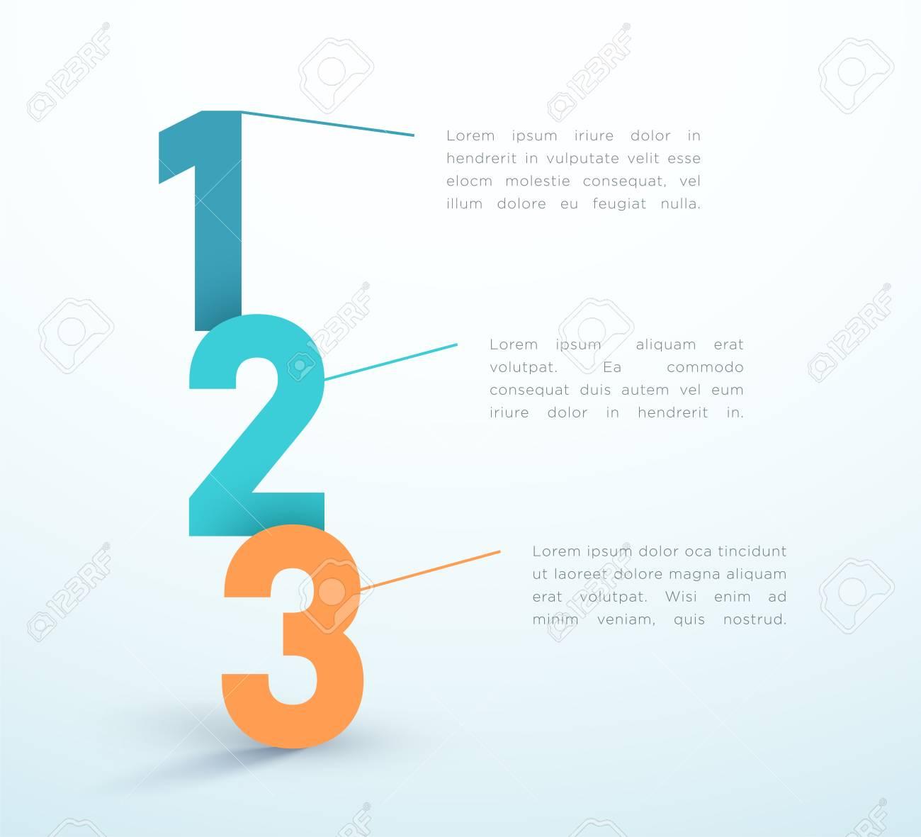 Number Steps 1, 2, 3 Infographic Vector Design - 116874206