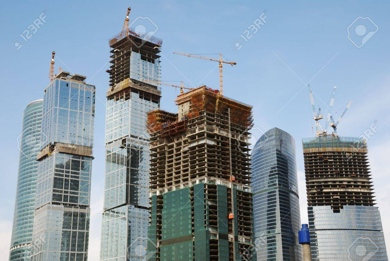moscow city; russian centre of trade and business Stock Photo - 3586116