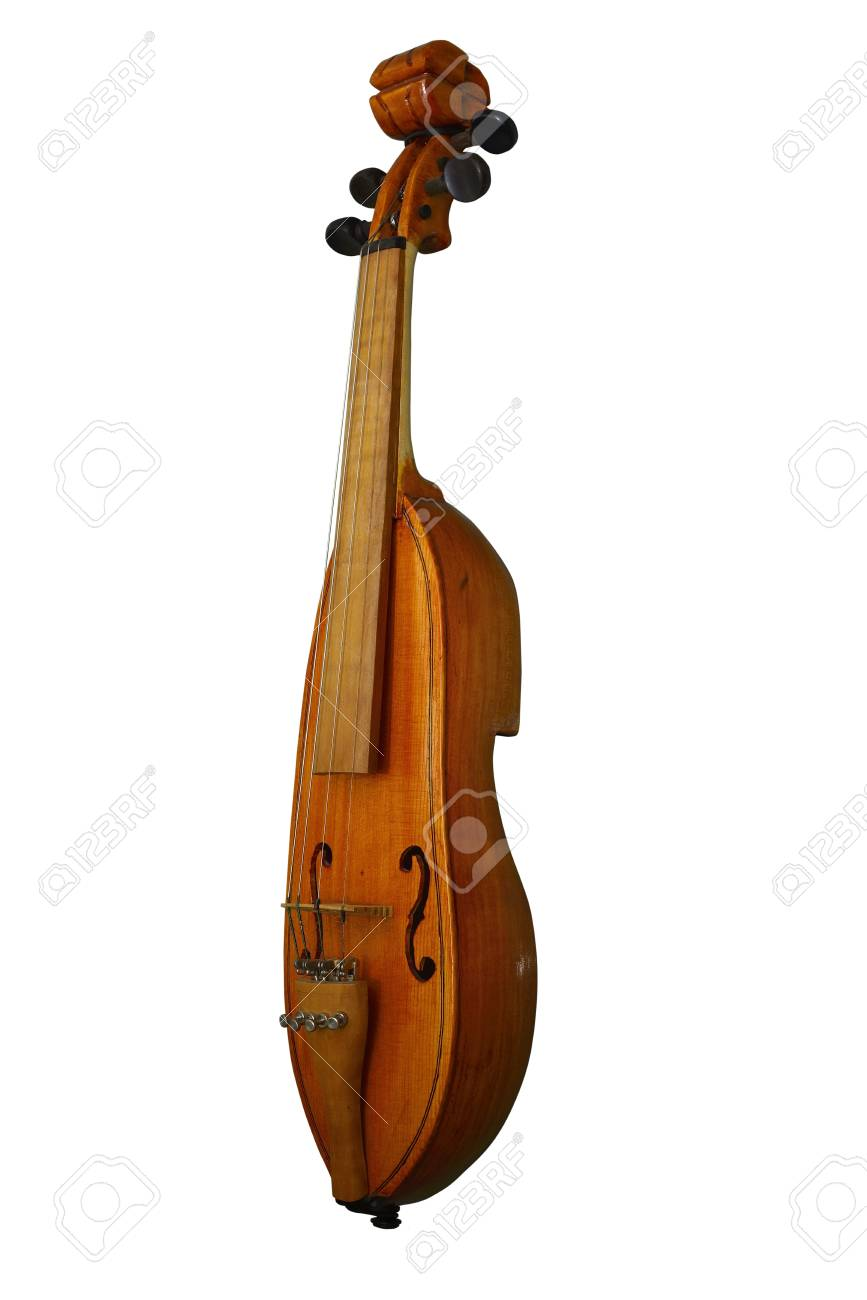 old folk musical instrument of the violin type