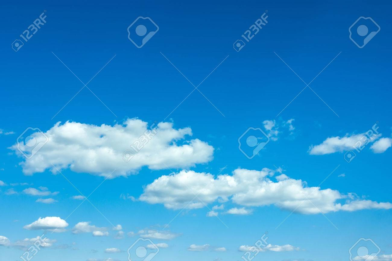 beautiful blue sky with clouds and sun - 45358701
