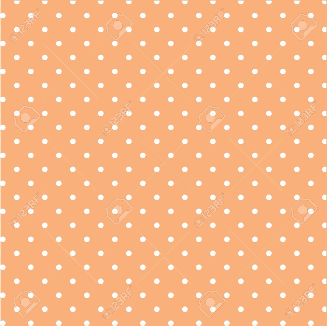 Seamless polka dot background pattern - 114708498