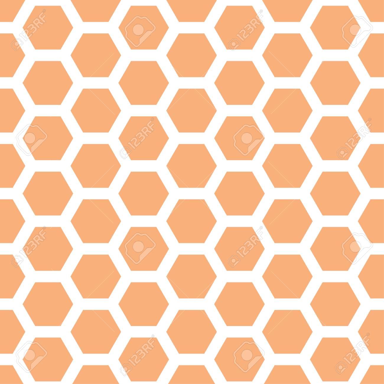 Seamless geometric pattern with honeycombs - 114708521