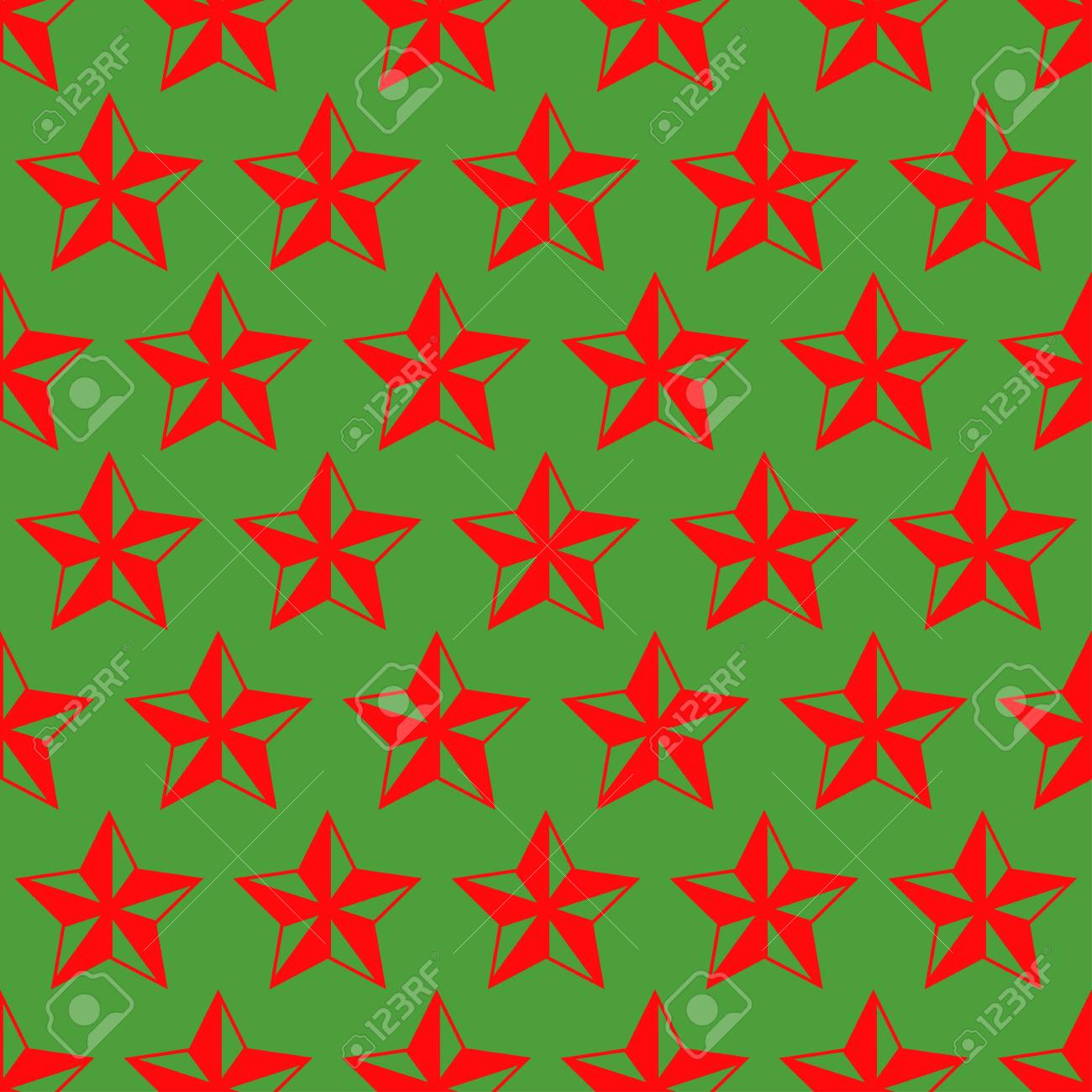 Stars Christmas pattern - 114708561