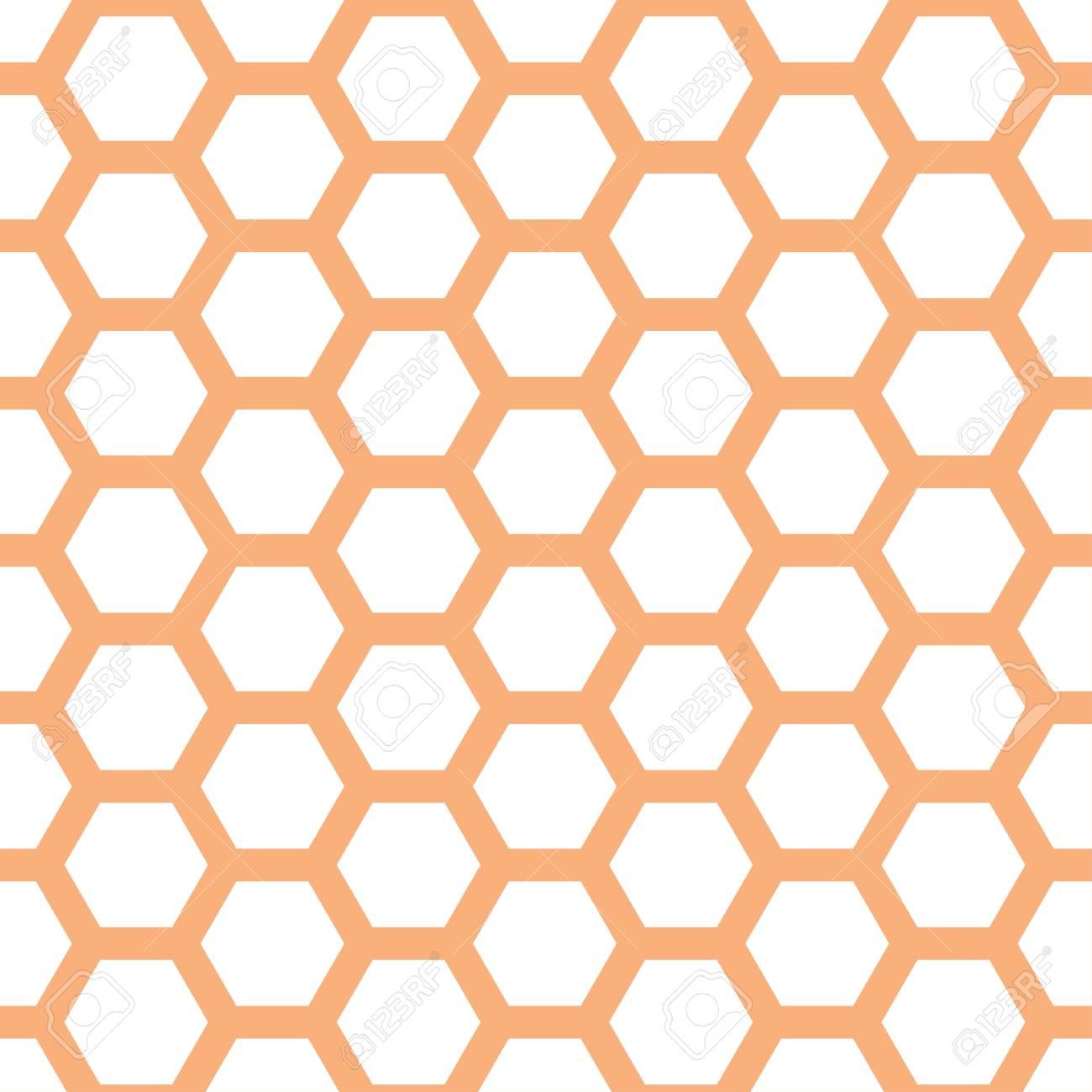 Seamless geometric pattern with honeycombs - 114708567