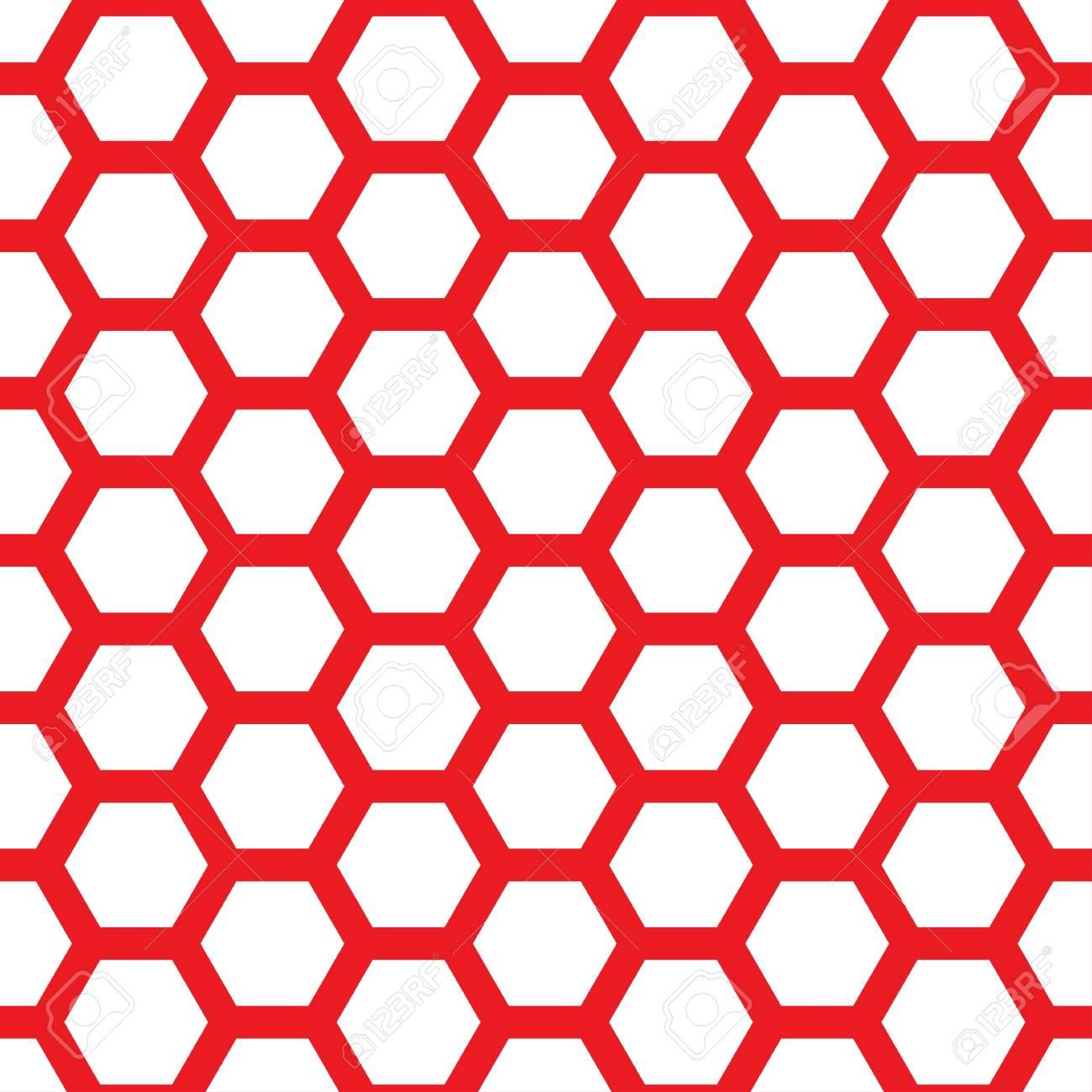 Seamless geometric pattern with honeycombs - 114708574