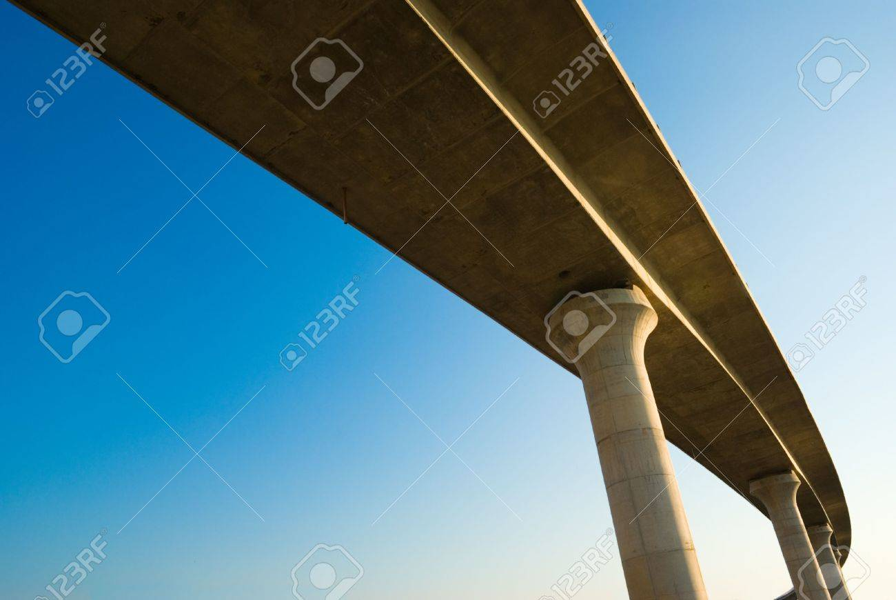 overpass on background of blue sky Stock Photo - 3368322
