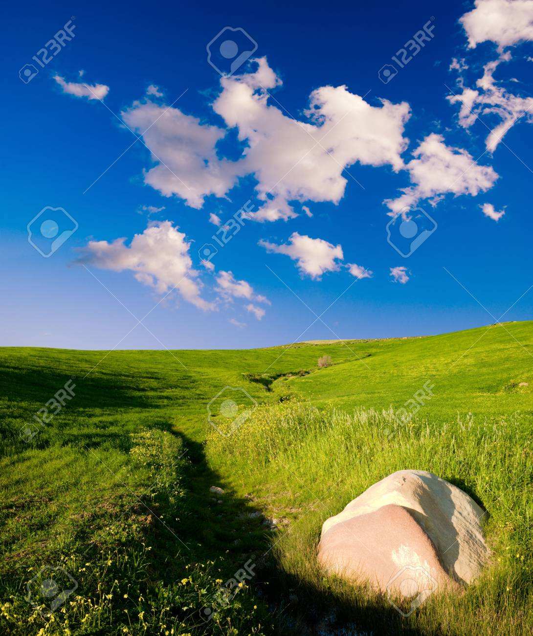 landscape with cloud and stone Stock Photo - 3372148