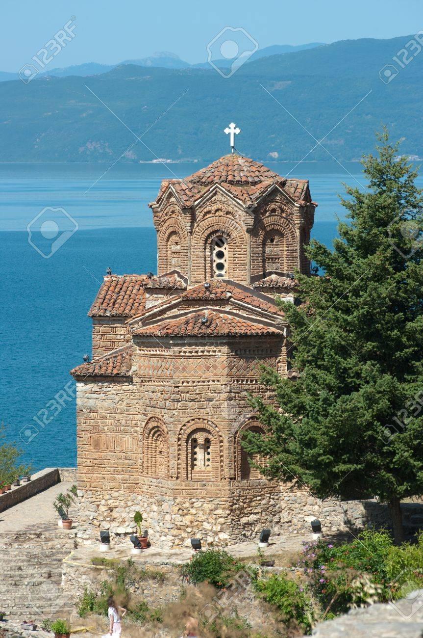 聖ヨヴァン カネオ ジョンはオフリド、マケドニア共和国の都市の ...